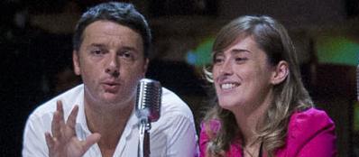 Matteo Renzi e Maria Elena Boschi, responsabile Riforme per il Pd (Lapresse)