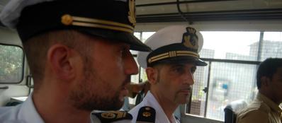 I marò Latorre e Girone (Ansa/Maria Grazia Coggiola)