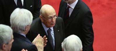 Il presidente della Repubblica, Giorgio Napolitano