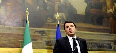 Il premier incaricato, Matteo Renzi (Foto Aldo Liverani)