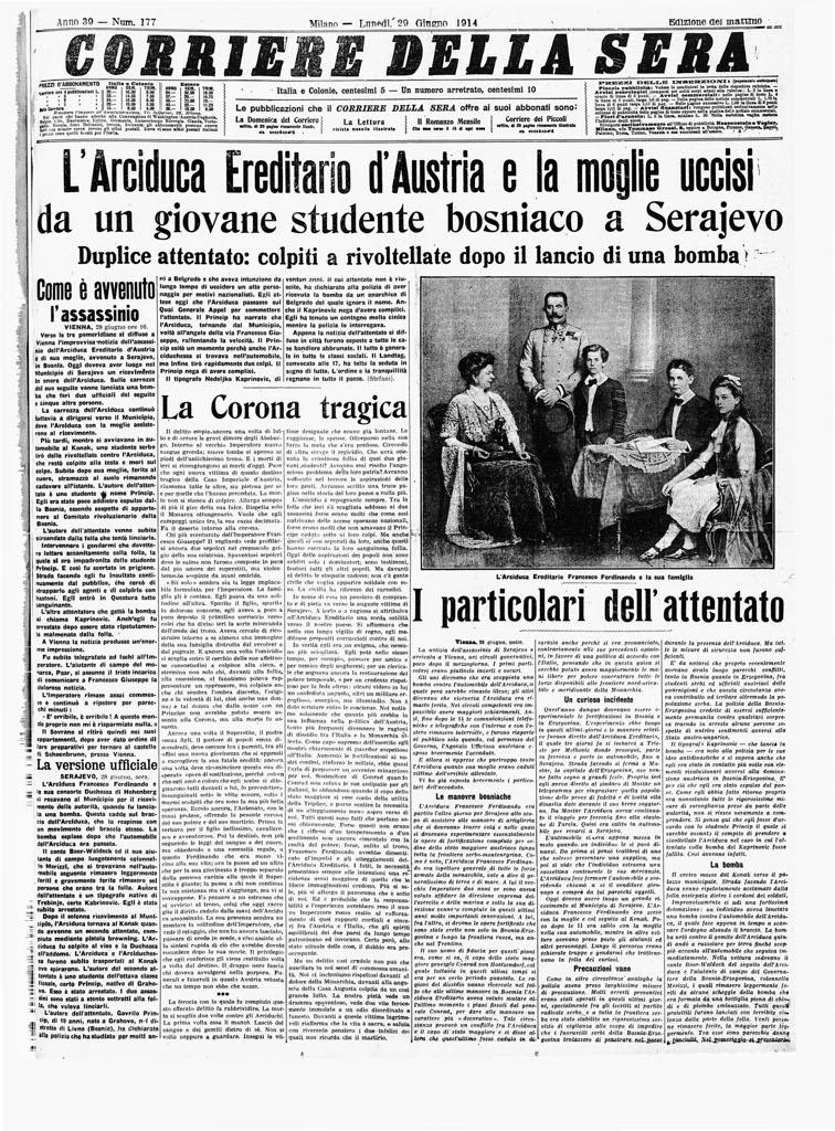 Prima guerra mondiale wwi for Corriere della sera arredamento