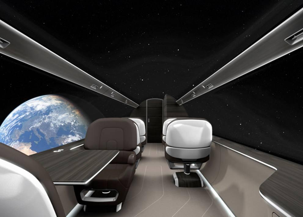 I nuovi aerei secondo i francesi senza finestrini e maxi for Grandi jet d affari in cabina