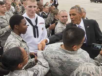 L'arrivo di Barack Obama in Florida (