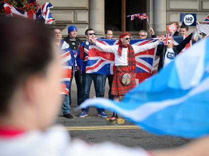 I due fronti contrapposti a Glasgow