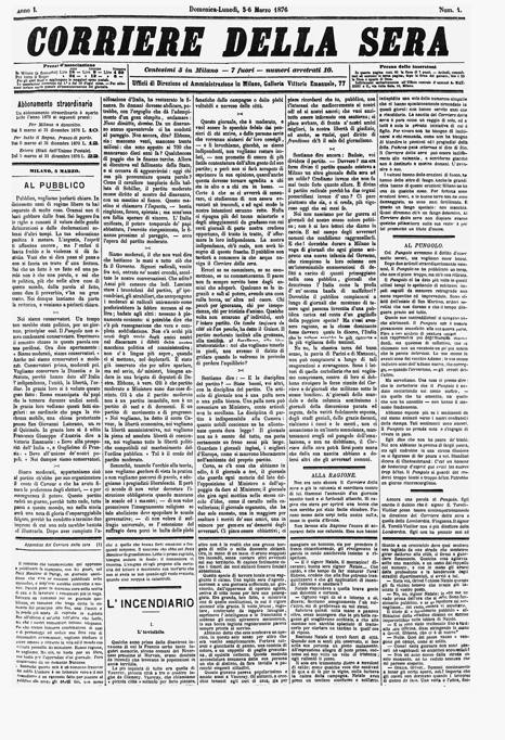 Dal primo numero al nuovo formato la storia del corriere for Corriere della sera arredamento