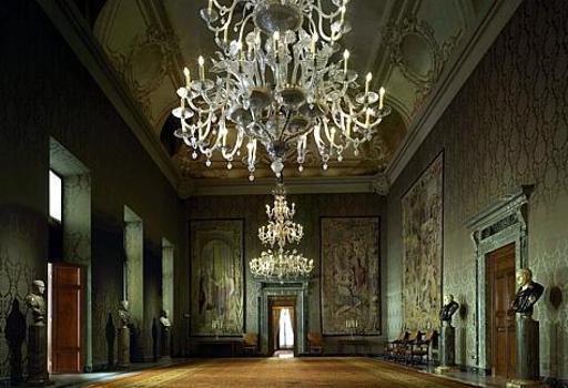 La Sala del Bronzino dove si � tenuta la deposizione di Napolitano