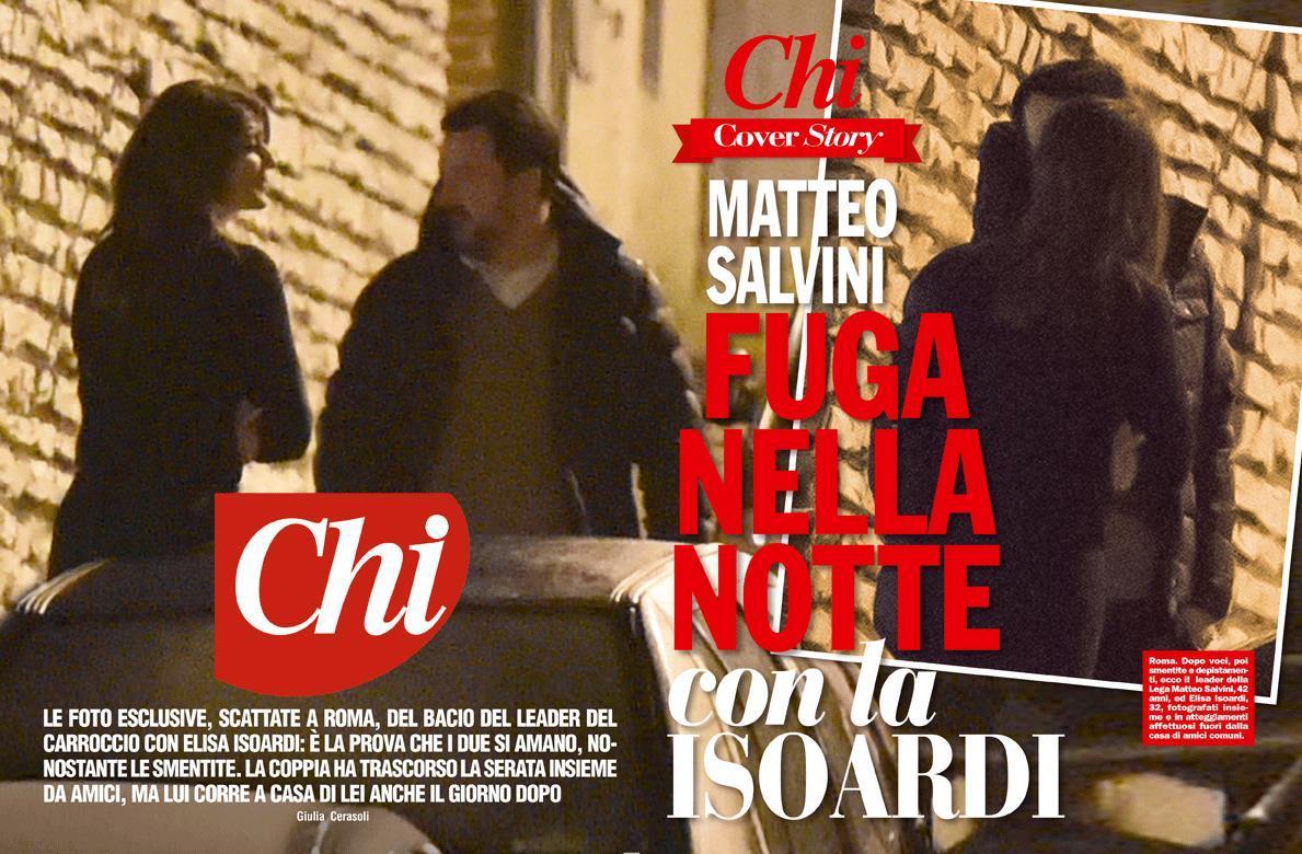 Il 171 Primo Bacio 187 Tra Elisa Isoardi E Matteo Salvini