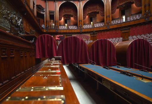 Quirinale, nell'Aula di Montecitorio �catafalchi� pronti per la prima votazione  (Ansa)