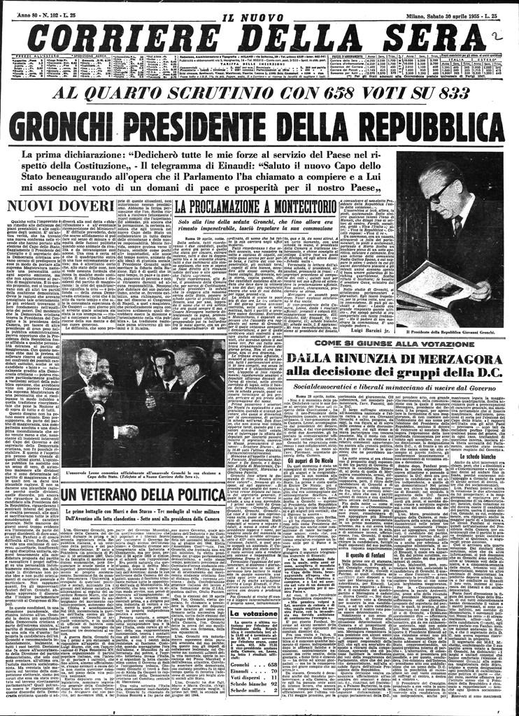 Le elezioni presidenziali nelle prime pagine del corriere for Corriere della sera casa