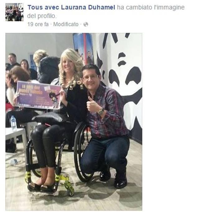 Laurana duhamel la prima candidata a miss francia in for Fisico sedia a rotelle