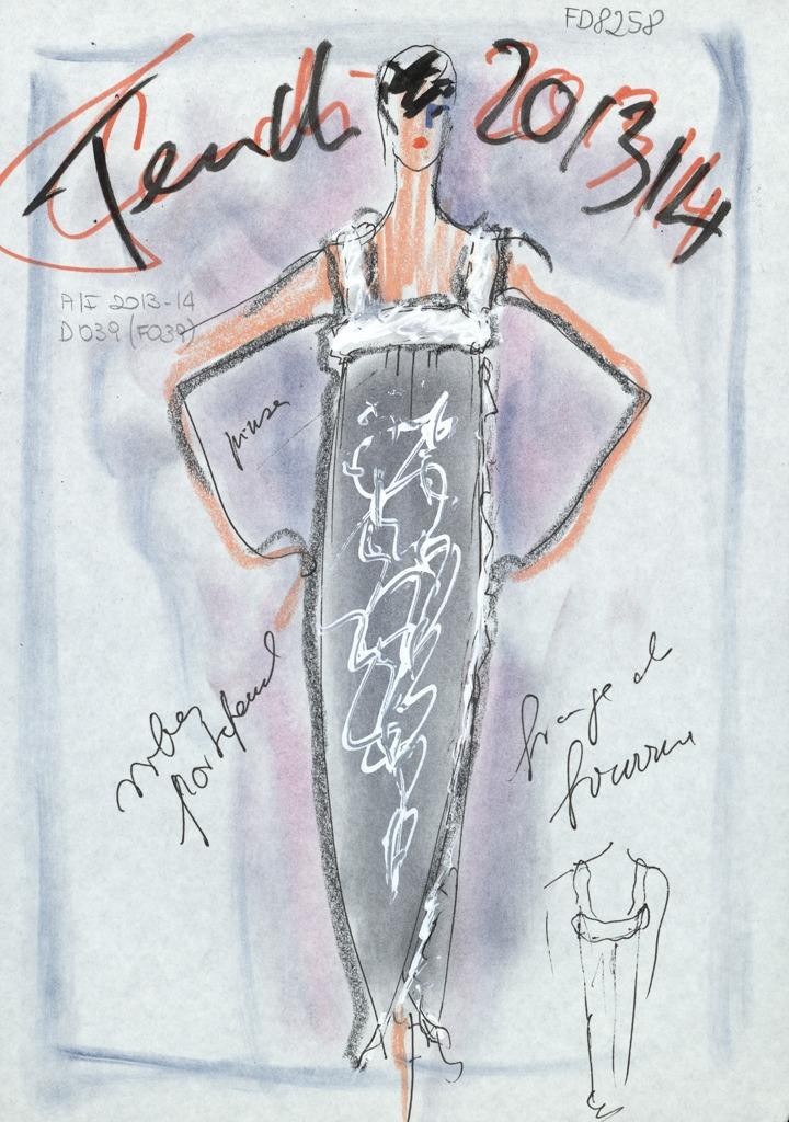 1996 Fendi Furs Fashion Magazine Print Ad: Fendi E Lagerfeld, 50 Anni Di Moda