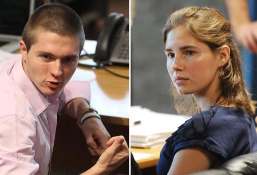 Raffaele e Amanda ai tempi del primo processo: per loro l'incubo è finito