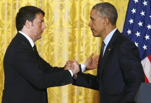 Matteo Renzi con Barack Obama nell'incontro alla Casa bianca (Reuters)