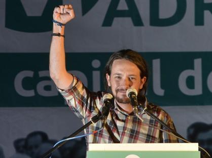 Pablo Iglesias, leader di Podemos (Ap)