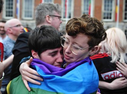 A Dublino si festeggiano i risultati del referendum sulle nozze gay