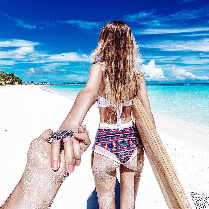 Proposta Di Matrimonio Spiaggia : «seguimi gli scatti «per mano di una coppia in tutto il
