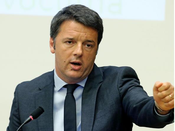 Il presidente del Consiglio Matteo Renzi (Ansa)