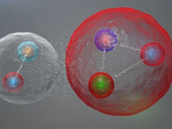 Ipotesi della struttura del pentaquark (Cern)