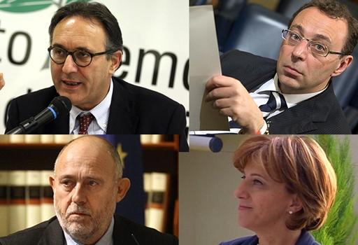 I quattro nuovi assessori della giunta di Roma: Causi, Esposito, Rossi Doria, Di Liegro