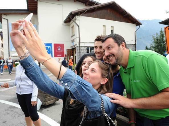 Salvini a Ponte di Legno per Ferragosto (Cavicchi)