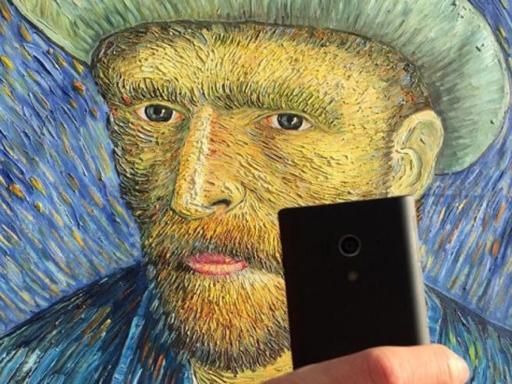 Autoritratto di van Gogh versione #artselfie