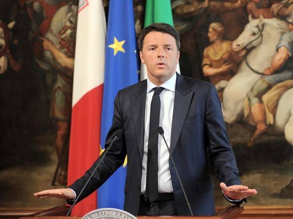Matteo Renzi a Palazzo Chigi in una foto d'archivio (LaPresse)
