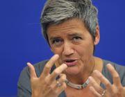 Il commissario Ue alla Concorrenza, Margrethe Vestager (Reuters)