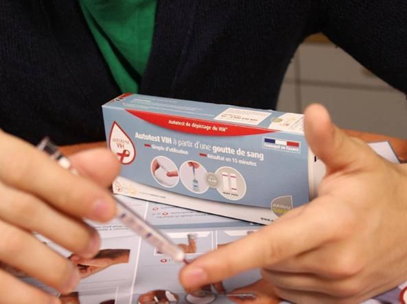 Il test per l'Hiv in vendita in Francia