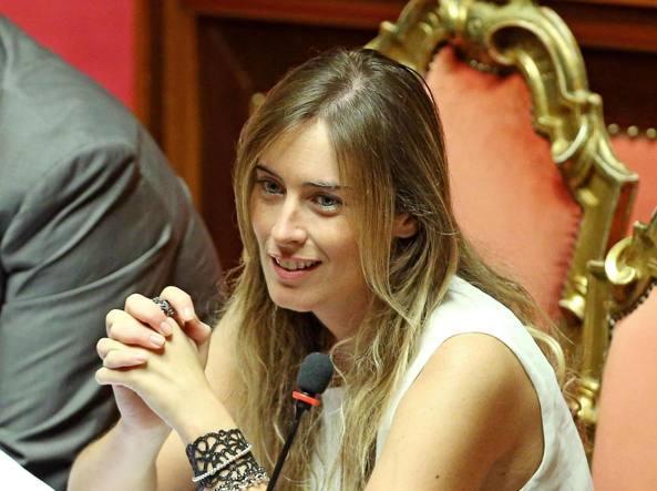 Il ministro Boschi al Senato (Ansa)