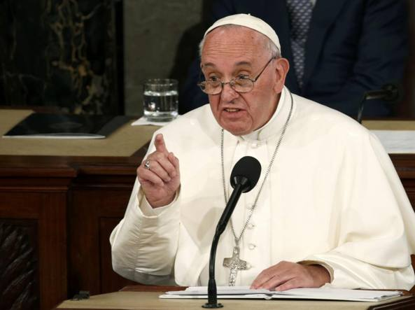 Papa Francesco si rivolge  al Congresso  (Reuters/Lamarque)