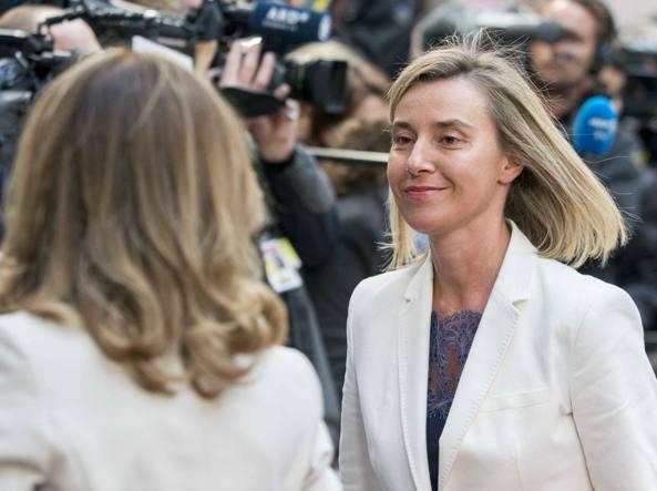 Mogherini a Bruxelles all'incontro dei leader della Ue (LaPresse)
