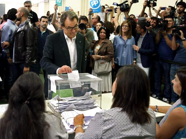 Artur Mas al voto (EFE)