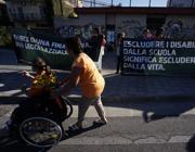 La protesta dei disabili