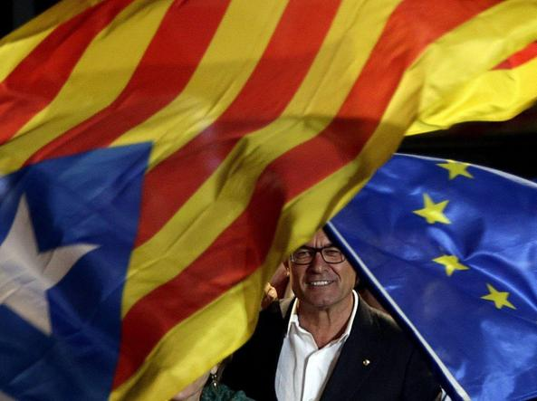 Artur Mas, leader di Juns pel Si (Estevez/Epa)