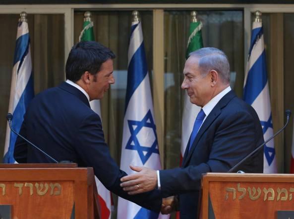 L'incontro dello scorso luglio tra il premier italiano Matteo Renzi e quello israeliano Beniamin Netanyahu (LaPresse)