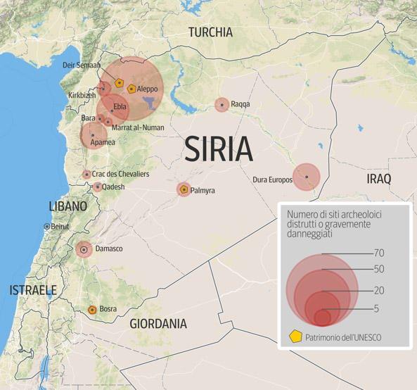 siria isis ha distrutto l 39 arco di trionfo romano a