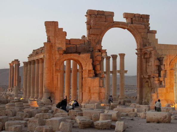 Le rovine di Palmira (Epa)