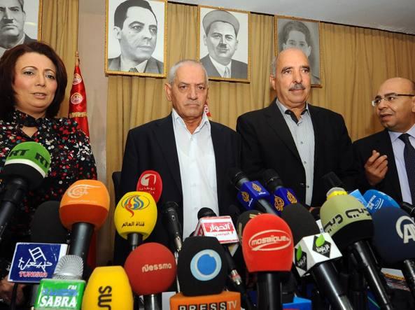 I membri del Quartetto per il dialogo in Tunisia (Afp)