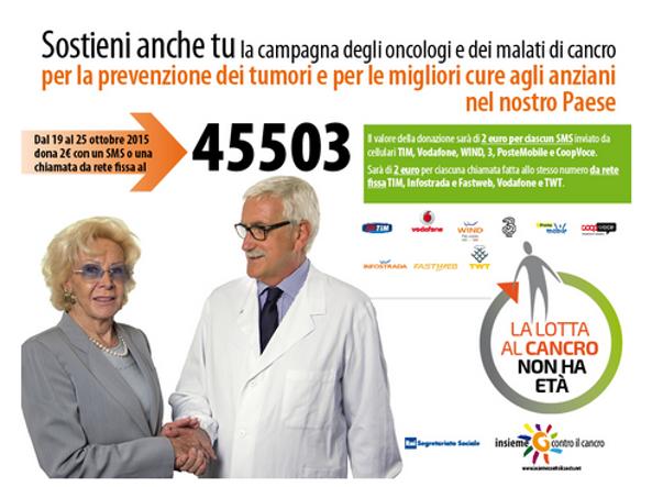 """Lea Pericoli e il professor Cognetti per """"Insieme contro il cancro"""""""