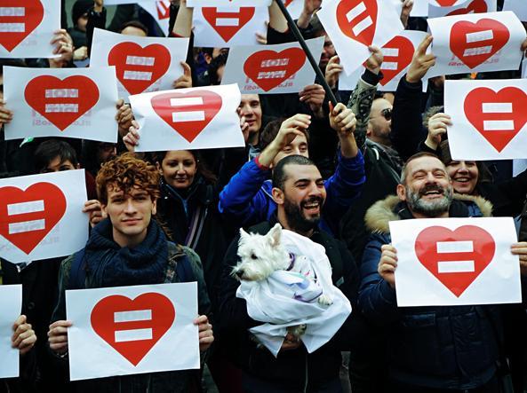 Manifestazione a favore delle unioni  civili a Roma (Jpeg)