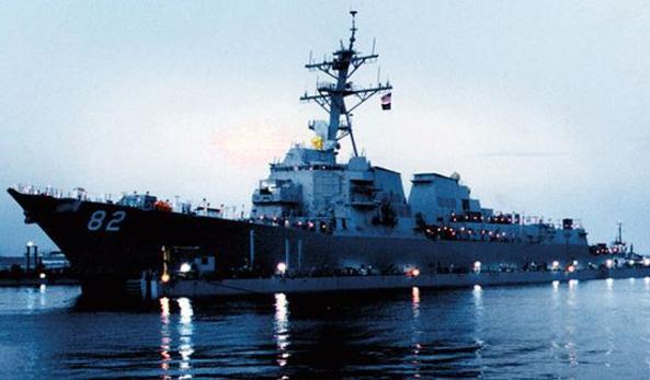 Foto d'archivio della USS Lassen, caccia lanciamissili