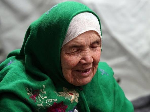 Bibihal Uzbeki, 105 anni (foto Marjan Vucetic / AP)