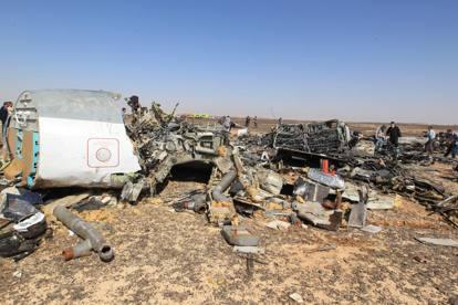 Sinai, i rottami dell'aereo russo caduto