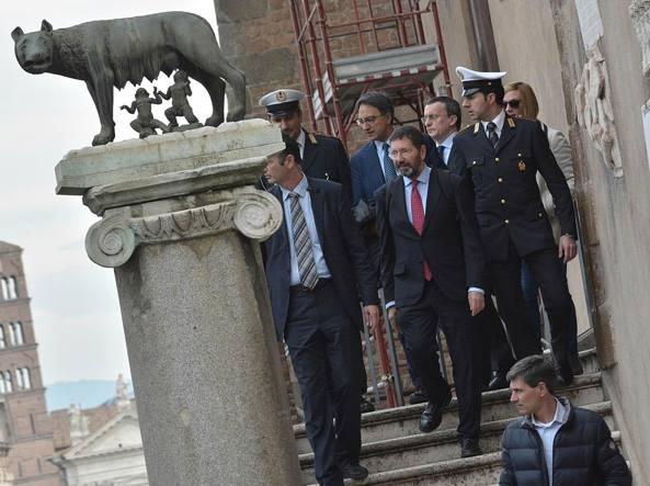Marino e la passeggiata al Campidoglio  (Jpeg)
