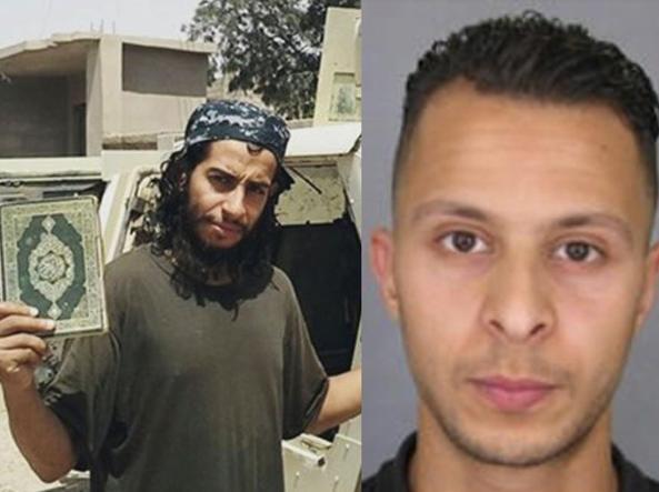 A sinistra nella foto, Abdelhamid Abaaoud, considerato dall'intelligence francese la «mente» degli attacchi a Parigi, e l'ottavo membro del commando, Salah Abdeslam, ancora in fuga