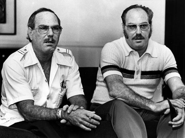 Da sinistra a destra Jack Yufe con il gemello Oskar (Foto Los Angeles Times)