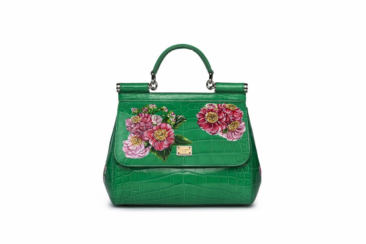 Borse A Mano Dolce E Gabbana : Dolce gabbana fiori dipinti sulle borse in cocco
