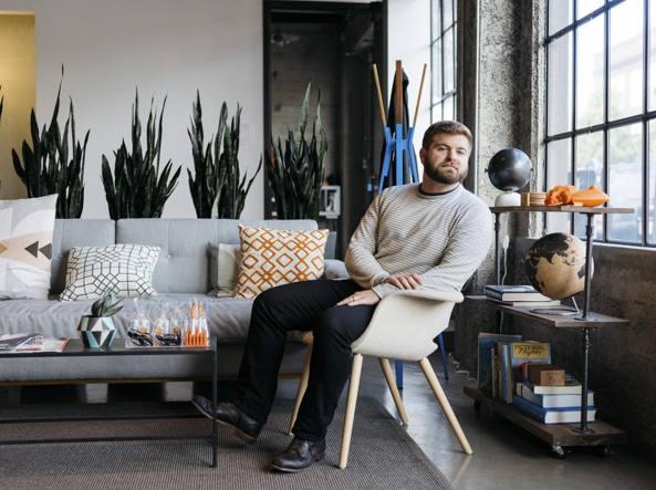 Marco Zappacosta, 30 anni, nel suo ufficio a San Francisco (Jason Henry/The New York Times)
