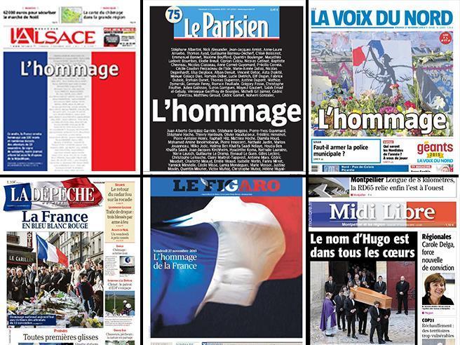 Hollande: «Isis, agiremo senza pietà»Tricolori alle finestre: le foto|Liveblog
