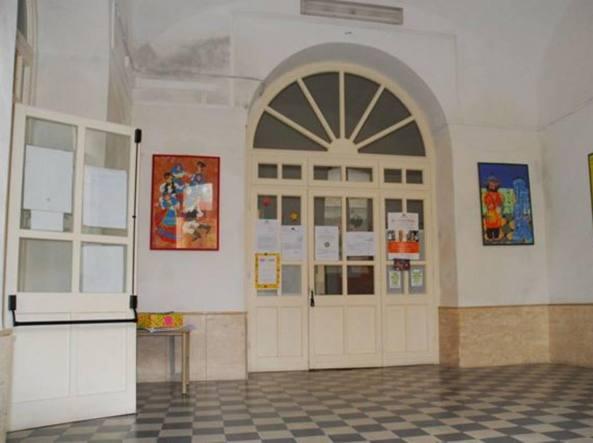 Un interno della scuola San Donato di Sassari